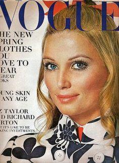 Vintage Vogue magazine covers - mylusciouslife.com - Vintage Vogue February 1969 - Evelyn Kuhn.jpg