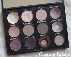 Mac Custom Eyeshadow Palette Swatch Review