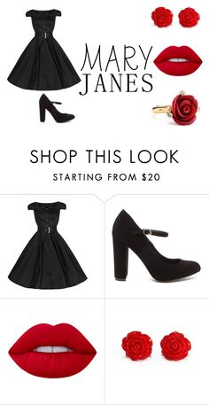 """""""Untitled #54"""" by tenuunl on Polyvore featuring Lime Crime and Oscar de la Renta"""