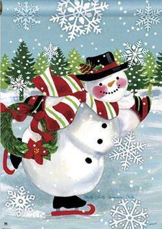 Christmas Garden Flag, Christmas Snowman, Winter Christmas, Christmas Holidays, Christmas Wreaths, Christmas Decorations, Christmas Ornaments, Merry Christmas, Frosty The Snowmen