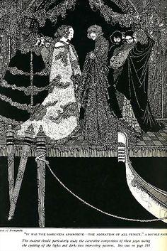 The assignation. Harry Clarke's Haunting 1919 Illustrations for Edgar Allan Poe's Tales of Mystery and Imagination Harry Clarke, Edgar Allan Poe, Art Nouveau, Mystery, Aubrey Beardsley, Allen Poe, Irish Art, Photomontage, Caricatures