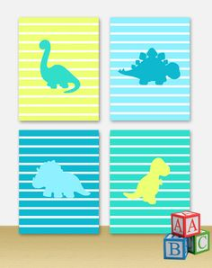 This is our adorable Dinos. Theyre wonderful colours will look great in any decor. These prints fit perfectly in any decor such as nurseries,