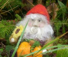 Autumn / Fall Decoration - Needle Felted Pumpkin Gnome - Waldorf inspired - Holiday Decoration