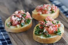 """This bruschetta appetizer recipe is my ultimate """"go-to"""" recipe when having guests over. So quick & easy, and yet it looks so classy! Perfect for a party!"""