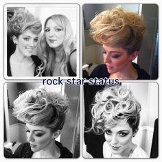 Hair & Makeup by Vera. Model: Mikaela Bird #updo #rockstar #elvis #photoshoot #editorial