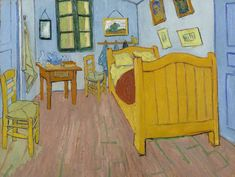 """A fantastic poster of the famous painting Bedroom in Arles by Vincent Van Gogh! A Fine Art masterpiece. You should """"Gogh"""" check out the rest of our excellent selection of Vincent Van Gogh posters! Need Poster Mounts. Theo Van Gogh, Van Gogh Pinturas, Vincent Van Gogh, Van Gogh Museum, Art Museum, Art Van, Van Gogh Arte, Van Gogh Paintings, Paintings Online"""