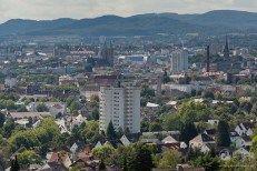 Fotograf Kassel | Rundumsicht über Kassel von Kassel - Wolfsanger in Richtung Innenstadt mit Martinskirche (mitte) und Lutherturm (rechts) http://blog.ks-fotografie.net/documenta-stadt-kassel/panorama-kassel/