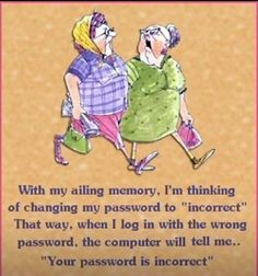 Old age memory humor so funny