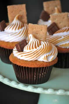 Baked Perfection: S'mores Cupcakes with Marshmallow Frosting....certainly not good for you, but not everything has to be......:)
