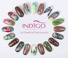 by Ewelina Fedorowicz Indigo Educator Bielawa :) Find more inspiration at… Nail Atelier, Anime Nails, Nail Art Wheel, Nail Lab, Nail Water Decals, Nailart, Indigo Nails, Nails 2016, Red Nail Designs