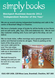 Simply Books - simply the best book shop in Bramhall.