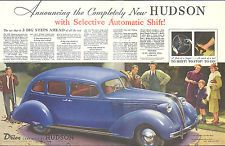 Announcing the Completely New Hudson Eight Sedan ad 1937