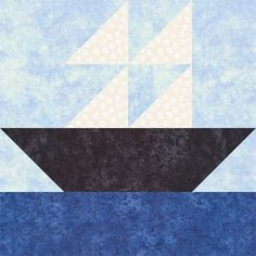 Learn How to Make Easy Ships at Sea Quilt Blocks in Two Sizes: Make Easy Ships at Sea Quilt Blocks