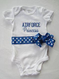 Air Force Princess Onesie on Etsy, $20.00