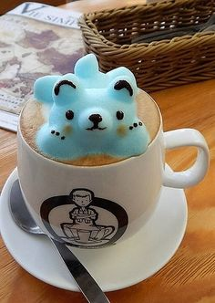 "Do you ever drink your latte in the morning and think ""Hmm I wish this was more three-dimensional and way cuter."" Us too! Leo's Espresso in Hong Kong addressed this dire need by creating lattes with jiggly 3-D figures in them!"
