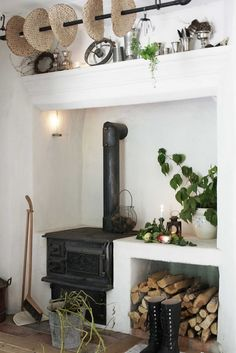 A country kitchen I love the stove