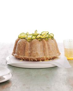 Zucchini Bundt Cake with Orange Glaze Recipe | Martha Stewart Living — Not just a way to use up zucchini!
