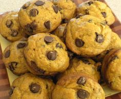 One Couple's Kitchen: Pumpkin-Chocolate Chip Muffins