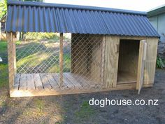Dog Kennel - Dog House | Outdoor Dog  Puppy Houses, Kennels and Runs | Auckland, Pukekohe  Waikato #PuppyHouses