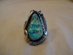 Huge and Heavy 29.5g Vintage NAVAJO Sterling by TurquoiseKachina