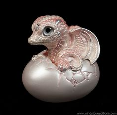 Hatching Dragon - version 2 - Shell Pink