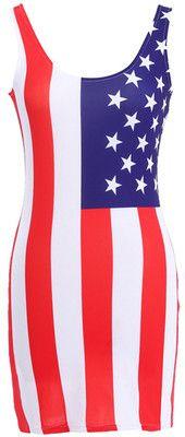 Vertical American Flag Dress