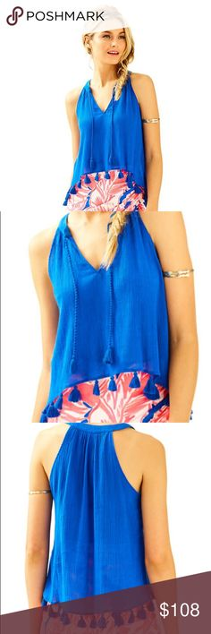 8259f85b0be3bb Lilly Pulitzer Roxi top Lilly Pulitzer roxi top blue small. Worn 1x to a  concert