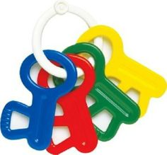 Schylling Ambi  Rattle Keys by Schylling. Save 14 Off!. $5.99. From the Manufacturer                For young babies,  there is a need for educational, colorful  toys that are strong and durable. The contrasts of colors are particularly important for the very youngest babies, as looking at colors helps them to fix their gaze. Schylling's  new Ambi toys are in line with that characteristic design and quality, for they are made of high-quality, brightly colored recyclable PVC...