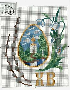 Cross Stitch Designs, Cross Stitch Patterns, Easter Egg Pattern, Easter Cross, Fuse Beads, Cross Stitching, Easter Eggs, Arts And Crafts, Quilts