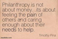 #TimothyPina #philanthropy #money #feeling #pain #others #caring #needs #help #empowerment #Philadelphia #CommAngels #CAF #USA #GM