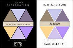 """Eva Maria Keiser Designs: Explore Color: """"Light Grayish Orange"""""""