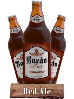 Cerveja Barão Bier Red Ale , estilo American Amber Ale, produzida por  Cervejaria Caseira, Brasil. 5.7% ABV de álcool.