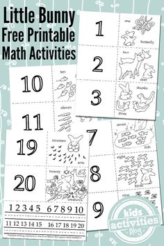 3 Adorable Math Activities From 1 Free Kids Printable