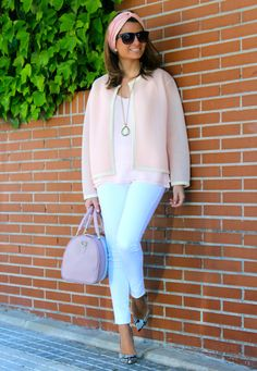 Sweet look / Look dulce 7-5-2014 Jacket / Chaqueta : Oh My Looks Shop (info@ohmylooks.com) ; Headband / Turbante : Oh My Looks Shop (info@ohmylooks.com) ; Bag / Bolso : LESAINT