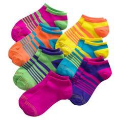 GOLDTOE 7-pack Striped Liner Socks - Girls