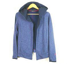 The North Face Womens Size M Blue Open Front Fleece Cardigan Hoodie Fleece Cardigan, Pullover Sweaters, North Face Women, The North Face, Open Front Cardigan, Adidas Jacket, Sweaters For Women, Outdoors, Hoodies