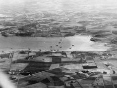 German seaplanes at Sola airport outside Stavanger in Norway, April 9. 1940. Luftwaffe fallschirmjäger had been dropped over this strategic important airport earlier this day, and suffered three casualties. For fun, take a look at Sola airport at Google Earth and observe how the area has changed in 75 years. This photo shows us the northern part of the present day runway and the fjord which is part of the large lake Hafrsfjord.