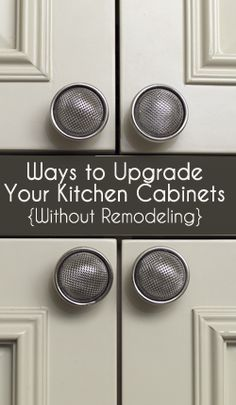 Read More About Ways to Upgrade Your Kitchen Cabinets - Painted Furniture Ideas Kitchen Redo, Kitchen Cabinets, Kitchen Ideas, Kitchen Updates, Kitchen Designs, Kitchen Makeovers, Kitchen Facelift, Glass Cabinets, Kitchen Units