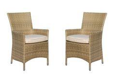 Debenhams Pair of brown rattan effect 'LA' chairs | Debenhams
