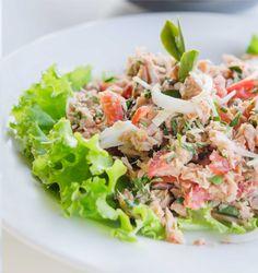 Israeli Spicy Tuna Salad Supreme.