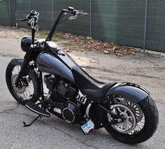 Custom Bobber, Custom Harleys, Custom Motorcycles, Street Motorcycles, Custom Bikes, Harley Davidson Custom Bike, Motos Harley Davidson, Harley Softail, Softail Bobber