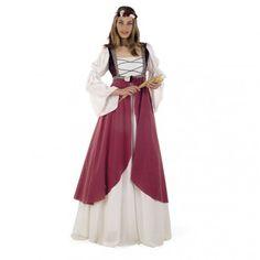 Este disfraz Medieval es espectacular y muy real, ya que la confecion y los tejidos son de maxima calidad. Con este disfraz de dama medieval seras la sensación en tus fiestas de disfraces. Perfecto para fiestas medievales.