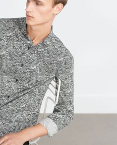 New Collection Online Formal Shirts For Men, Fashion Catalogue, Printed Shirts, Latest Trends, Zara, Shirt Dress, Blazer, Mens Tops, Jackets