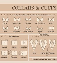 :: STYLE :: BOIS, know what you're wearing - Collars, Cuffs and Lapels!