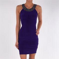 Cachet Beaded Jersey Cleo Dress #VonMaur #Purple #Embellished