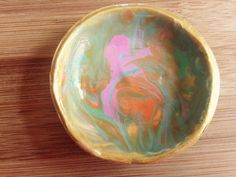 Marbled Clay or Trinket Ring Bowl by LulaJackDesigns on Etsy