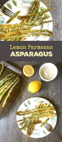 This lemon Parmesan asparagus recipe is perfect for Spring. An easy, tasty, healthy side dish. Low Carb Side Dishes, Healthy Side Dishes, Vegetable Side Dishes, Side Dish Recipes, Vegetable Recipes, Low Carb Recipes, Vegetarian Recipes, Cooking Recipes, Healthy Recipes