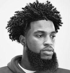 black curly hair, black and white photo, hair styles for men, white background - Frisuren Black Men Haircuts, Black Men Hairstyles, Haircuts For Curly Hair, Men's Haircuts, Mens Twists Hairstyles, Cool Hairstyles, Halloween Hairstyles, Hairstyle Short, Natural Hairstyles
