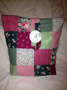 Go Green Insulated Maroon Green Patchwork Print by CountryCrafting, $15.00