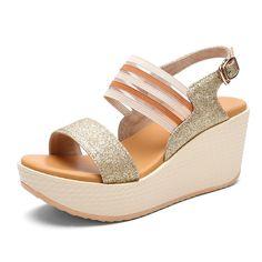 Thick wedges platform sandals in the summer/High heel sandals *** For more information, visit image link.
